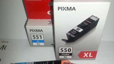 Neue Canon PGI-550 und CLI-551 Druckerpatronen