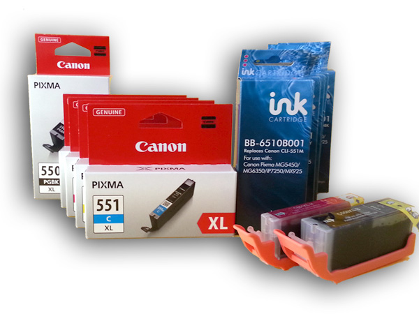 Kompatible Canon CLI-551 XL und PGI-550 XL neu im Sortiment