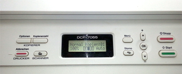Brothr DCP-Modelle – Toner zurücksetzen (reset)