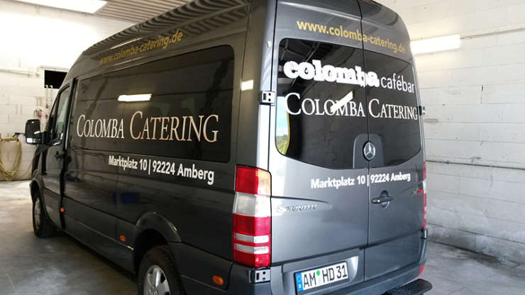 Fahrzeugfolierung für Colomba Cafebar & Catering