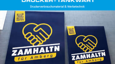 "Plakatdruck ""ZAMHALTN"""
